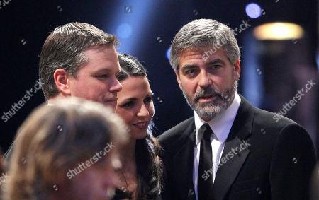 George Clooney, Matt Damon, Luciana Bozan Barroso George Clooney, right, is seen with Matt Damon and wife Luciana Bozan Barroso at the 16th Annual Screen Actors Guild Awards, in Los Angeles