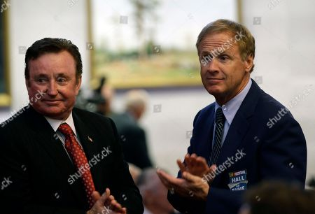 Richard Childress, Rusty Wallace NASCAR racing legends Richard Childress, left, and Rusty Wallace applaud during proceedings on the House floor during the opening session of the General Assembly in Raleigh, N.C., as members of the House honored NASCAR Hall of Fame inductees