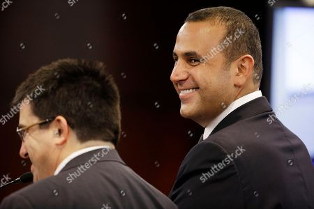 Sam Nazarian, Anthony Cabot Sam Nazarian, right, smiles while speaking with his attorney Anthony Cabot, left, before the Nevada Gaming Commission in Las Vegas. Nazarian has been the face of the property since he purchased it when it was still the Sahara in 2007. He closed the Sahara four years later, then reopened it as SLS Las Vegas following a $415 million overhaul. Since opening in August, the resort has laid off staff, lost its first president and closed its buffet