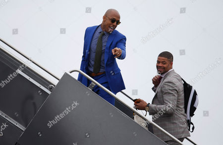 Andre Caldwell, Cody Latimer Denver Broncos wide receivers Andre Caldwell, left, and Cody Latimer board an airplane at Denver International Airport, . The Broncos are to face the Carolina Panthers on Sunday, Feb. 7, in Super Bowl 50