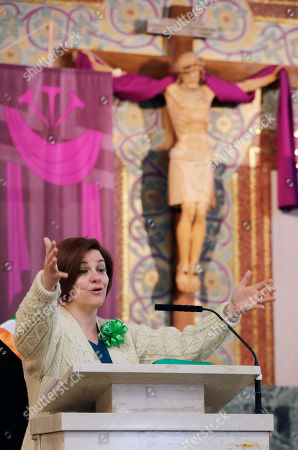 Christin Quinn New York City Council President Christine Quinn talks to the congregation at St. Francis De Sales Roman Catholic Church in the Rockaway section of New York, prior to the Queens County St. Patrick's Day Parade. Quinn is a presumptive mayoral candidate