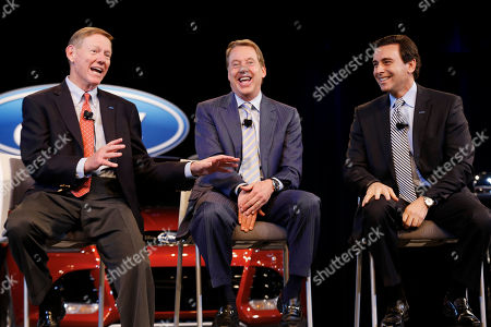 Alan Mulally, Bill Ford Jr., Mark Fields Ford Motor Company President and CEO Alan Mulally, left, Executive Chairman Bill Ford Jr., center, and Chief Operating Officer Mark Fields speak during a news conference in Dearborn, Mich. Taking over for Mulally when he retires July 1, Fields, who was instrumental Ford's turnaround, will inherit a healthy company. But he will have to push the company for bigger growth