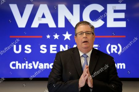 Chris Vance Chris Vance, the Republican candidate for U.S. Senate, speaks at a news conference, in Seattle. Vance, who is running against incumbent Democratic U.S. Sen. Patty Murray, said Thursday says he can't support Donald Trump as his party's nominee for president