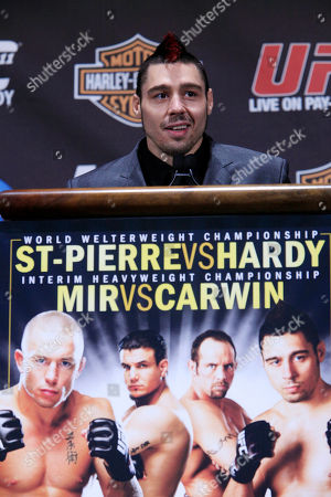 Dan Hardy Dan Hardy speaks to reporters during a news conference at Radio City Music Hall, in New York. Ultimate Fighting Championship returns to the Prudential Center in Newark, N.J., for UFC 111 on Saturday, March 27
