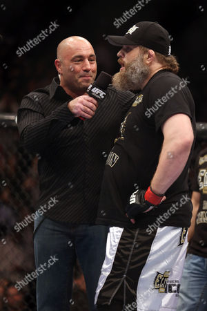 Roy Nelson, Joe Rogan Roy Nelson is interviewed by Joe Rogan his win over Cheick Kongo after their UFC 159 Mixed Martial Arts heavyweight bout in Newark, NJ, Saturday, April 27,2013. Nelson won via first round KO