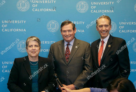 Janet Napolitano, Timothy White, Brice Harris University of California president Janet Napolitano, from left, California State University chancellor Timothy White and California Community Colleges chancellor Brice Harris answer questions after speaking at a UC Board of Regents meeting in San Francisco