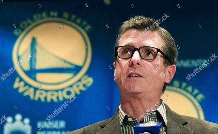Rick Welts Golden State Warriors President and COO Rick Welts speaks to reporters in Oakland, Calif., . A former Golden State Warriors employee has filed a sexual harassment lawsuit against star guard Monta Ellis, alleging Ellis sent her unwanted texts that included a photo of his genitals