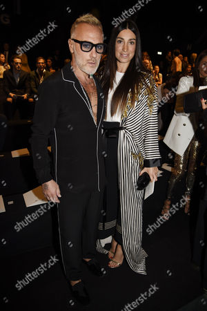 Gianluca Vacchi and Giorgia Gabriele in the front row