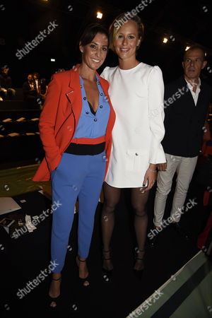 Flavia Pennetta and Federica Pellegrini in the front row