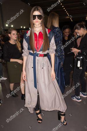 Alexandra Micu on the catwalk