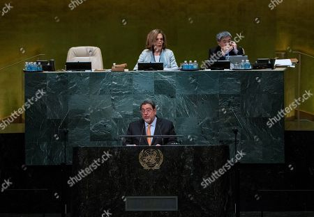 Ralph Gonsalves, Prime Minister of Saint Vincent and the Grenadines, addresses the 71st session of the United Nations General Assembly, at U.N. headquarters
