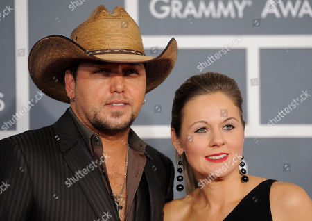 Jason Aldean, Jessica Aldean Jason Aldean, left, and Jessica Aldean arrive at the 54th annual Grammy Awards on in Los Angeles