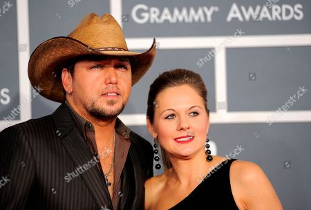 Jason Aldean, Jessica Aldean Jason Aldean, left, and Jessica Aldean arrives at the 54th annual Grammy Awards on in Los Angeles