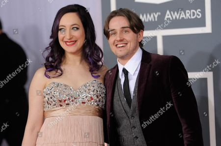 Stock Photo of Seth Glier, Rachael Sage Seth Glier and Rachael Sage arrives at the 54th annual GRAMMY Awards on in Los Angeles