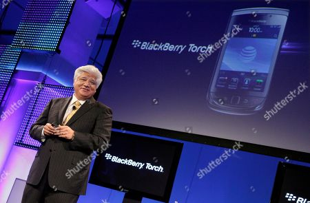 Mike Lazaridis Mike Lazaridis, president and Co-Chief Executive Officer of Research In Motion, talks about his company's new BlackBerry Torch, in New York