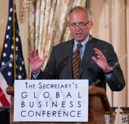 James McNerney Boeing Company Chairman, President, and CEO W. James McNerney, Jr. speaks during the first-ever State Department Global Business Conference, at the State Department in Washington