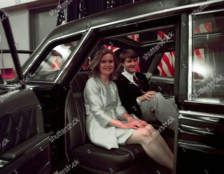 LIMOUSINE During a tour of the exhibit area of the San Diego Convention Center, Tricia Nixon Cox, daughter of late former president Richard Nixon, and her son Christopher, 17, sit in the back seat of a 1967 Lincoln Continental limousine that had been used by her father and three other presidents. The car was donated to the Richard M. Nixon Library and Birthplace in Yorba Linda, Calif., by the Ford Motor Company