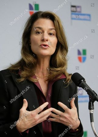 Melinda French Gates Melinda French Gates, of the Bill & Melinda Gates Foundation, joins with Univision Communications Inc., to announce a national education initiative to boost academic achievement among Hispanic students from kindergarten through high school, during an event at the National Press Club in Washington