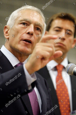 Alexi Giannoulias, Wesley Clark Retired Army Gen. Wesley Clark, left, talks at a news conference in Chicago, as he endorses Democratic Senate candidate Alexi Giannoulias, right, at one of Carbon Day Automotive's charging stations for electric cars in Chicago