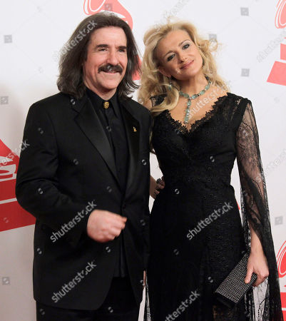 Luis Cobos, Patricia Cobos Chairman of the Latin Recording Academy Luis Cobos, left, and Patricia Cobos arrive at the Latin Recording Academy Person of the Year tribute to Shakira on in Las Vegas