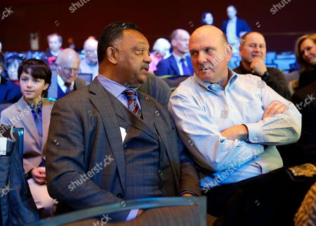 Jesse Jackson, Steve Ballmer Rev. Jesse Jackson, left, talks with former Microsoft CEO Steve Balmer at Microsoft Corp.'s annual shareholders meeting, in Bellevue, Wash. on . Jackson later spoke at the meeting to urge Microsoft and other high tech companies to increase the hiring and training of minority tech workers and to improve the diversity of their boards of directors