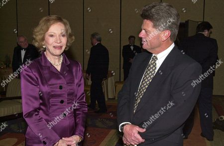 Rosalynn Carter, Jeff Wilson Former first lady Rosalynn Carter chats with AP reporter Jeff Wilson at a gathering of former first ladies, including Nancy Reagan, and presidents at a gala 20th anniversary fundraising event saluting Betty Ford and the Betty Ford Center in Indian Wells, Calif. Now retired, Associated Press reporter Jeff Wilson covered the Reagans when they returned to California in 1989 and was present for many of the couple's highs and lows of those post-White House years. Those years Reagans were his responsibility, and In all the years he covered her and the numerous times he saw her, they never had an extended conversation. It wasn't her style to let outsiders into their world. Nancy Reagan died . She was 94