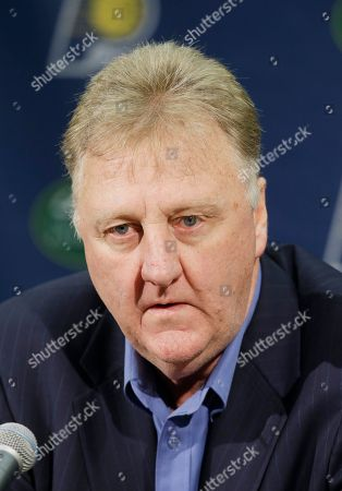 Larry Bird Indiana Pacers President of Basketball Operations Larry Bird speaks during a news conference, in Indianapolis. For the first time in five years, the Pacers didn't make the playoffs