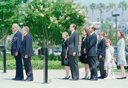 Editorial picture of Pat Nixon Funeral 1993, Yorba Linda, USA