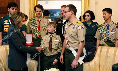 Editorial image of Pelosi Boy Scouts, Washington, USA