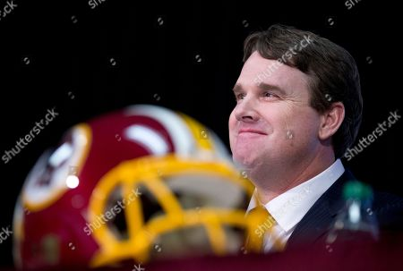 Jay Gruden New Washington Redskins head coach Jay Gruden, smiles as he listens to a reporter's question at the Redskins Park in Ashburn, Va., . Jay Gruden was introduced as the new Washington Redskins head coach, replacing Mike Shanahan and becoming the team's eighth head coach since Daniel Snyder purchased the franchise in 1999