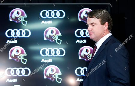 Jay Gruden New Washington Redskins head coach Jay Gruden, arrives for a news conference at the Redskins Park in Ashburn, Va., . Jay Gruden was introduced Thursday as the new Washington Redskins head coach, replacing Mike Shanahan and becoming the team's eighth head coach since Daniel Snyder purchased the franchise in 1999