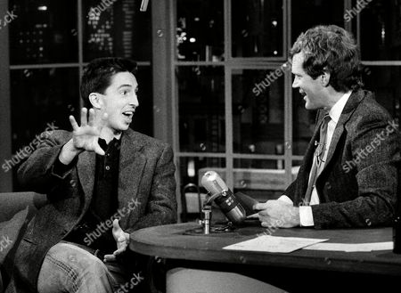 Ronald Prescott Reagan, David Letterman Ronald Prescott Reagan, left, son of President Reagan, exchanges jibes with David Letterman, right, host of NBC? television?s ?Late Night with David Letterman? show in New York on . Reagan?s appearance on the Letterman Show was his second on a late night comedy Show in as many weeks