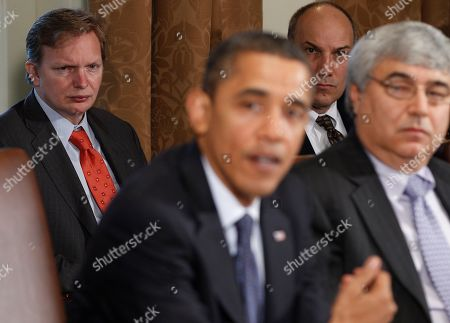 Jim Messina, Pete Rouse, Phil Schiliro, Jim Messina Deputy Chief of Staff Jim Messina and Assistant to the President for Legislative Affairs Phil Schiliro, right, listen as President Barack Obama makes a statement to reporters after meeting with his staff and Cabinet members in the Cabinet Room at the White House in Washington, . Also seated at right is Pete Rouse, White House Chief of Staff