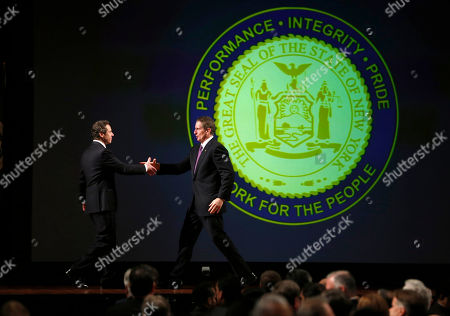 Andrew Cuomo, Robert Duffy New York Gov. Andrew Cuomo, left, and Lt. Gov. Robert Duffey after Cuomo's annual State of the State address at the Empire State Plaza Convention Center, in Albany, N.Y