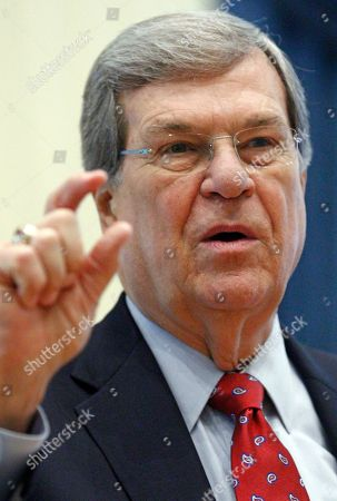 """Trent Lott Former U.S. Senate Majority Leader Trent Lott, R-Miss., speaks with reporters prior to addressing an audience at the Old Capitol Museum in Jackson, Miss., at an event called """"History is Lunch."""" During his address, Lott discussed a book he wrote with Democratic former Sen. Tom Daschle of South Dakota, the state of politics in Washington and the current presidential races"""