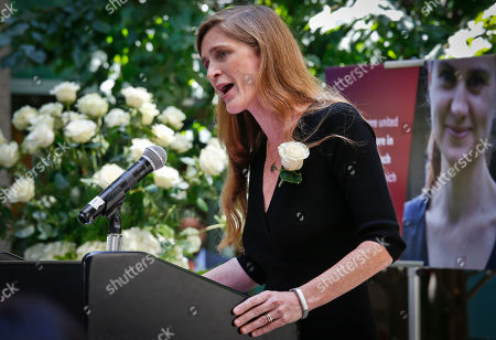 Samantha Power United States U.N. Ambassador Samantha Power delivers a statement from President Obama during a memorial for slain British Parliament Member Jo Cox, in New York. A crowd of around 100 gathered near the U.N. on Wednesday, which would have been the politician's 42nd birthday. Simultaneously, thousands gathered in London and cities all over the world, including Nairobi and Brussels, to pay tribute