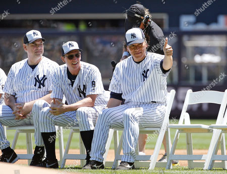 David Cone, Hideki Matsui Former New York Yankees pitcher David Cone, center, watches as New York Yankees 2009 World Series MVP Hideki Matsui gives a thumbs up sign before the Yankees annual Old Timers Day baseball game, in New York. Matsui hit a two-run home run off Cone in the game