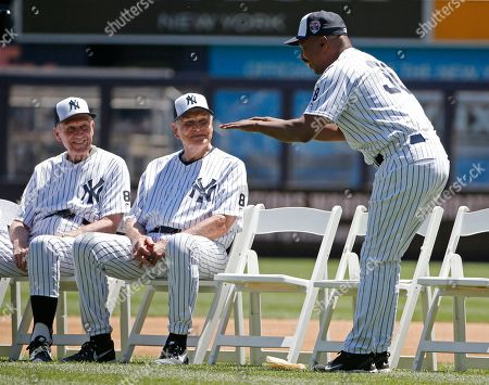 Dr. Bobby Brown, Eddie Robinson, Willie Randolph Former New York Yankees bench coach Willie Randolph, right, bows to former Yankees Dr. Bobby Brown, 91, and Eddie Robinson, 95, the oldest living Yankee, before the Yankees annual Old Timers Day baseball game, in New York