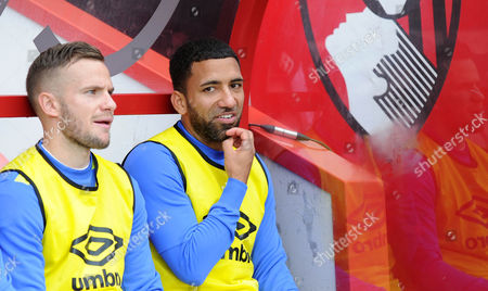 Tom Cleverley and Aaron Lennon,, of Everton, during the Premier League match between Bournemouth and Everton, at The Vitality Stadium (Dean Court) on 24th September 2016.