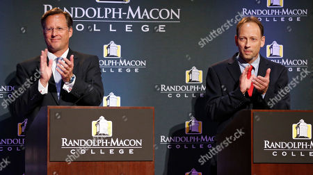 Jack Trammell, Dave Brat Democrat Jack Trammell, right, and Republican Dave Brat, applaud during introductions for their debate at Randolph-Macon College in Richmond, Va., . The two candidates are running for the 7th district Congressional seat once held by Eric Cantor