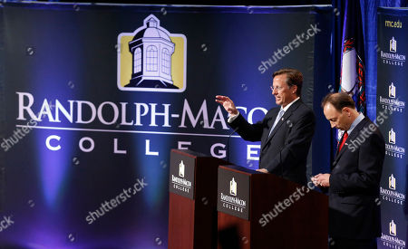 Jack Trammell, Dave Brat Republican Dave Brat, left, gestures during a debate with Democrat Jack Trammell at Randolph-Macon College in Richmond, Va., . The two candidates are running for the 7th district Congressional seat once held by Eric Cantor