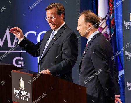 Jack Trammell, Dave Brat Republican Dave Brat, left, speaks during a debate against Democrat Jack Trammell, at Randolph-Macon College in Richmond, Va., . The two candidates are running for the 7th district Congressional seat once held by Eric Cantor
