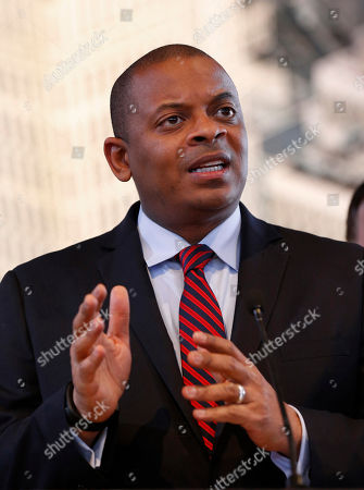 U.S. Transportation Secretary Anthony Foxx speaks at the North American International Auto Show in Detroit, . Foxx said Thursday that the National Highway Traffic Safety Administration also will develop a model policy for states to follow if they decide to allow autonomous cars on public roads. That policy - which will be developed within six months - could help form the basis of a consistent national policy