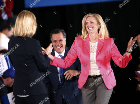 "Stock Photo of Mitt Romney, Ann Romney, Kerry Healey Republican presidential candidate, former Massachusetts Gov. Mitt Romney, and his wife Ann arrive on stage as they are greeted by former Mass. Lt. Gov. Kerry Healey, at their Super Tuesday primary watch party in Boston. To the yearbook editors at the all-girl Kingswood School, Ann Lois Davies' destiny seemed pretty obvious. ""The first lady,"" the entry beside the stunning blond beauty's photo in the 1967 edition of ""Woodwinds"" concluded. ""Quiet and soft spoken."" The modern feminist movement was just dawning, and even some of the girls at the staid prep school in the wealthy Detroit suburb of Bloomfield Hills were feeling their oats _ if in a somewhat tame way. Charlon McMath Hibbard remembers getting a doctor's note about her feet, so she wouldn't have to wear the obligatory saddle Oxfords"