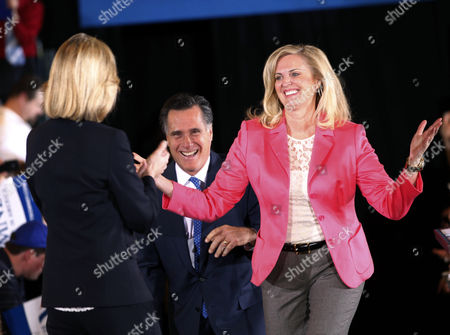 "Mitt Romney, Ann Romney, Kerry Healey Republican presidential candidate, former Massachusetts Gov. Mitt Romney, and his wife Ann arrive on stage as they are greeted by former Mass. Lt. Gov. Kerry Healey, at their Super Tuesday primary watch party in Boston. To the yearbook editors at the all-girl Kingswood School, Ann Lois Davies' destiny seemed pretty obvious. ""The first lady,"" the entry beside the stunning blond beauty's photo in the 1967 edition of ""Woodwinds"" concluded. ""Quiet and soft spoken."" The modern feminist movement was just dawning, and even some of the girls at the staid prep school in the wealthy Detroit suburb of Bloomfield Hills were feeling their oats _ if in a somewhat tame way. Charlon McMath Hibbard remembers getting a doctor's note about her feet, so she wouldn't have to wear the obligatory saddle Oxfords"