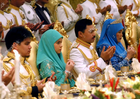 Her Royal Highness Paduka Seri Pengiran Anak Isteri Pengiran Anak Sarah, Prince Hj Al-Muhtadee Billah, the Crown Prince of Brunei and Raja Isteri Pengiran Anak Hajah Saleha