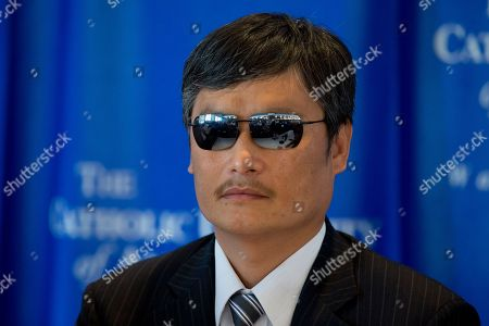 Chen Guangcheng Chinese activist Chen Guangcheng sits on the dais before speaking at the National Press Club in Washington, . Guangcheng says he has new affiliations with Lantos Foundation for Human Rights and Justice, the Catholic University of America and the William E. and Carol G. Simon Center on Religion and Constitution of the Witherspoon Institute after leaving New York University under disputed circumstances