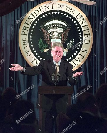 CLINTON President Clinton addresses a crowd of supporters during a Democratic National Committee dinner at the house of restauranteur Tilman Fertitta in Houston, Tx