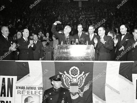 Editorial image of FDR 1940, Boston, USA
