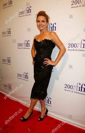 """Becky Newton Becky Newton of the television show """"Ugly Betty"""" arrives at the 35th Annual FIFI Awards of the Fragrance Foundation in New York on Thursday May, 31, 2007"""